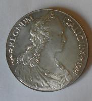 Eritrea Talero 1918 novoražba, bílý kov