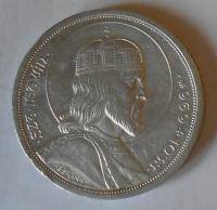 Maďarsko 5 Pengö 1938 sv. Štěpán