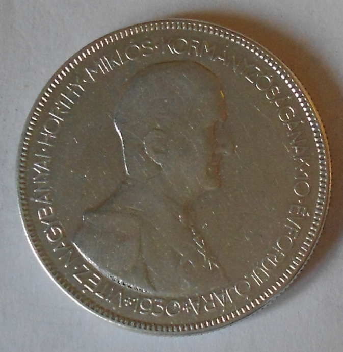 Maďarsko 5 Pengö1930 Horty