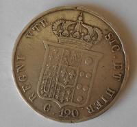 Neapol 120 Groš 1857 Ferdinand II.