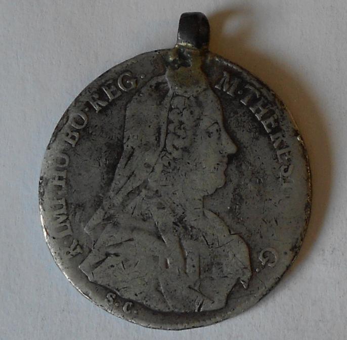 Rakousko 1/2 Tolar dobové ouško 1769 Marie Terezie