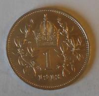 Rakousko 1 Koruna 1913 STAV