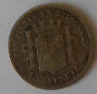 Španělsko 1 Peseta 1870