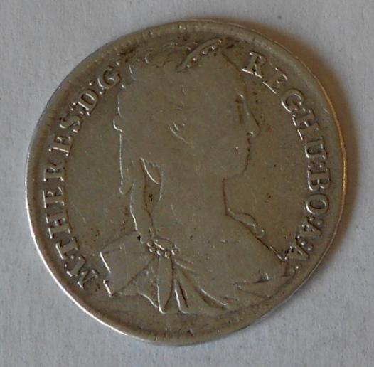 Uhry – KB XV. Krejcar 1743 Marie Terezie