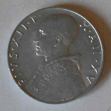 Vatikán 10 Lir 1953