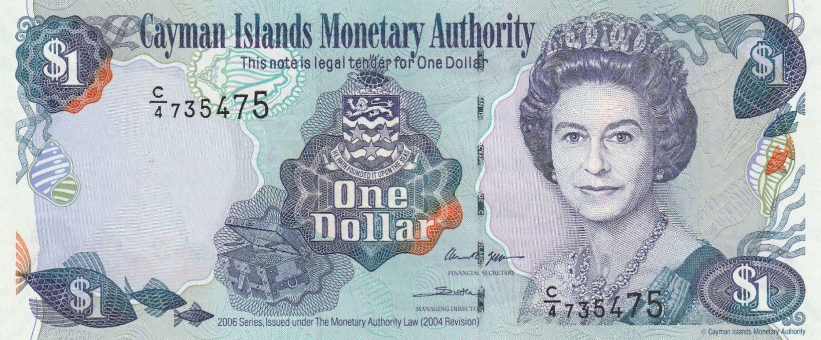 1 Dollar, Kaimanské ostrovy, 2006