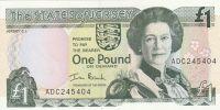 1 Pound, Alžběta II. Jersey