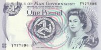 1 Pound, Tynhald Hill, Isle of Man