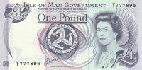 1 Pound, Tynhald Hill, Isle of Man