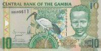 10 Dalasis, Gambie, pták