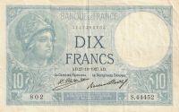 10 Franc, Francie 1927