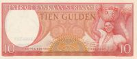 10 Gulden, Surinam, 1963