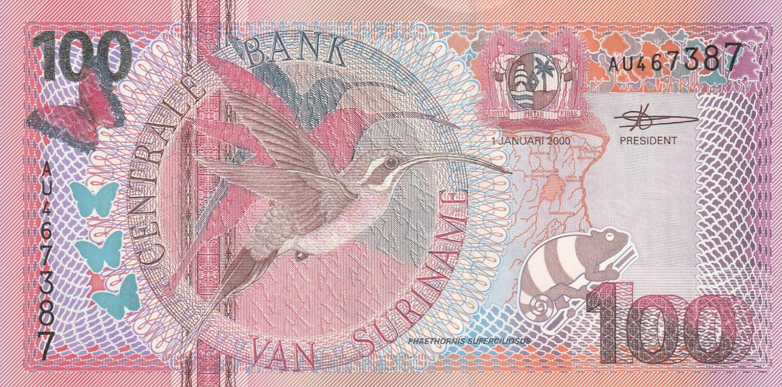 100 Gulden, Surinam, 2000