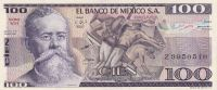 100 Pesos, Mexiko, 1982