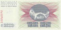 1000 Dinár, Bosna a Hercegovina, 1992