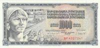 1000 Dinár, Jugoslávie, 1981