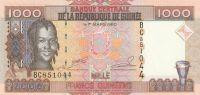 1000 Franc, Guinea, 2006