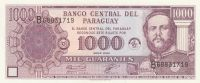1000 Guaranies, Paraguay, 2003
