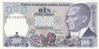 1000 Lirasi, Turecko, 1970
