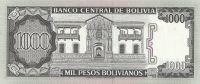 1000 Pesos, Bolivie, 1982