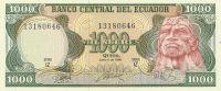 1000 Sucres, Ekvádor, 1988