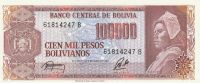 100000 Pesos, Bolivie, 1984