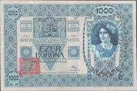 1000Kč/1902-18, kolek ČSR/, stav 2-, série 1226