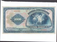 1000Kč/1932/, stav 2- perf. SPECIMEN, série B