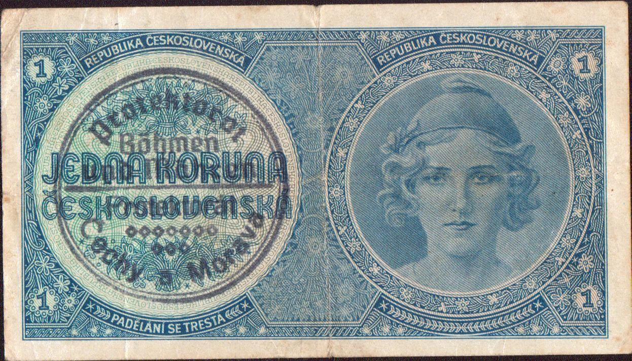 1K/1938-40/, stav 2, série A 014, ruční přetisk