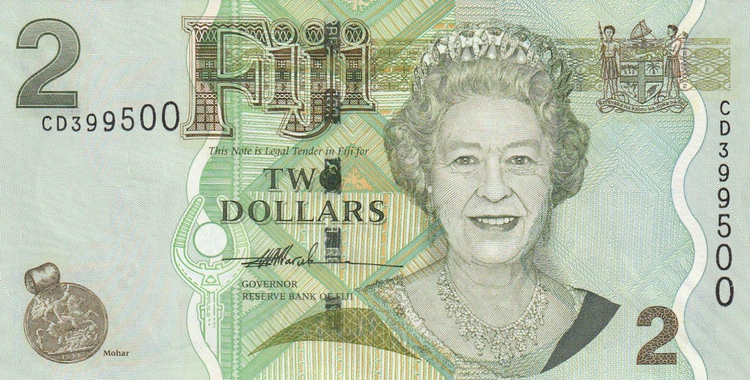 2 Dollar, Alžběta II. Fiji