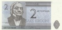 2 Kroon, Estonsko, 1992