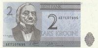 2 Kroon, Estonsko, 1992
