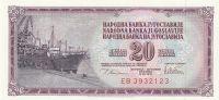 20 Dinár, Jugoslávie, 1978