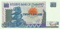 20 Dollar, Zimbabwe, 1997