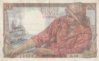 20 Franc, Francie,1942