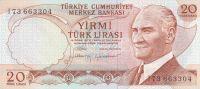20 Lirasi, Turecko, 1970