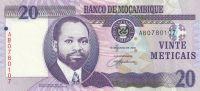 20 Meticais, Mozambik, 2006
