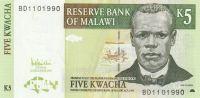 5 Kwacha, Malawi, 1989