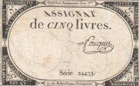 5 Livres, Francie, 18.století
