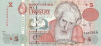 5 Peso, Uruguay, 1998