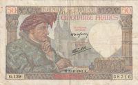 50 Franc, Francie, 1941