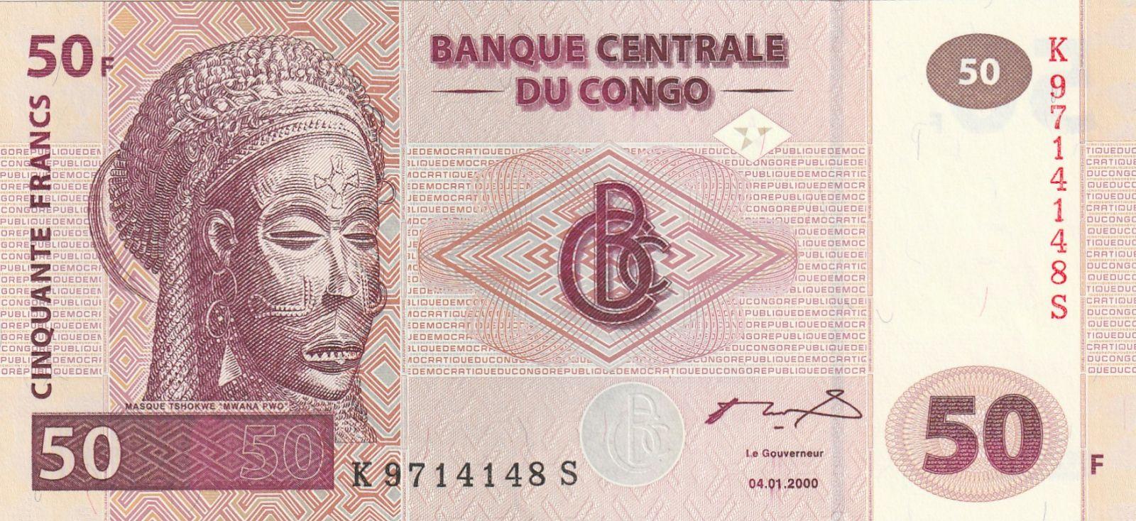 50 Franc, Kongo, 2000