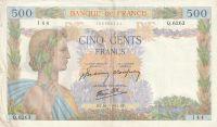 500 Franc, Francie, 1942