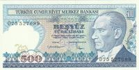 500 Lirasi, Turecko, 1970