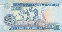 500 Meticais, Mozambik, 1991