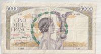 5000 Franc, Francie, 1943 natržená 5 cm