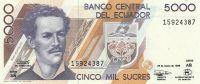 5000 Sucres, Ekvádor, 1999