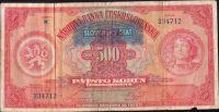 500Ks/1929-39, přetisk Slovenský Štát/, stav 4, série H