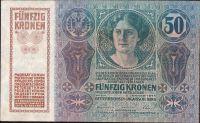 50Kč/1914-17, kolek ČSR/, stav 1-2, série 1015