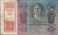 50Kč/1914-18, kolek ČSR/, stav 4, série 1067